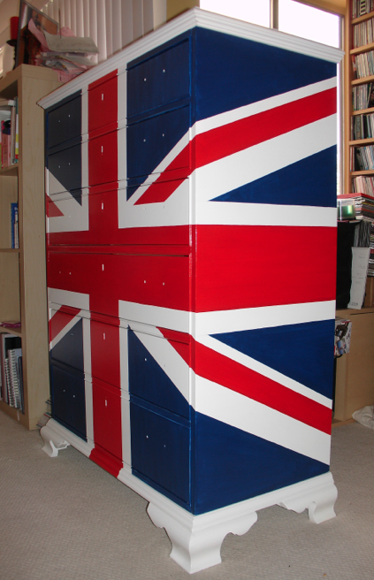 Custom Painted Union Jack Chest of Drawers  Neale Hughes